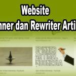 Website Spinner dan Rewriter Artikel