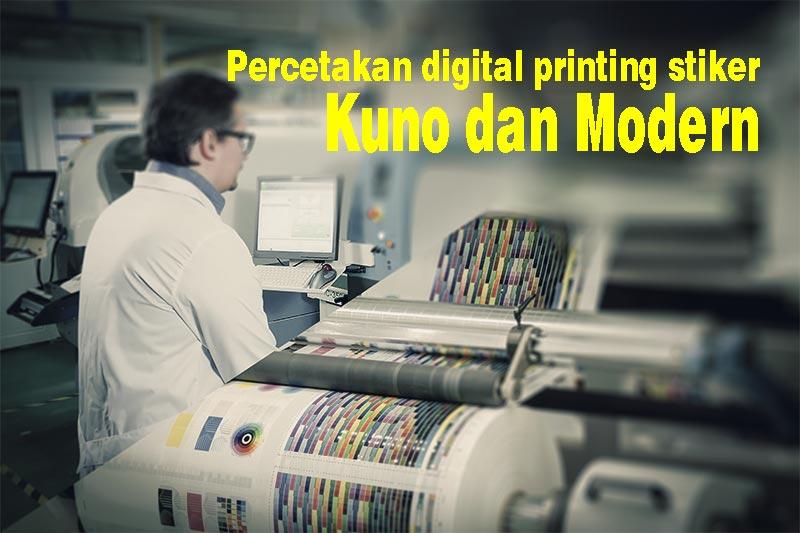 Percetakan digital printing Stiker