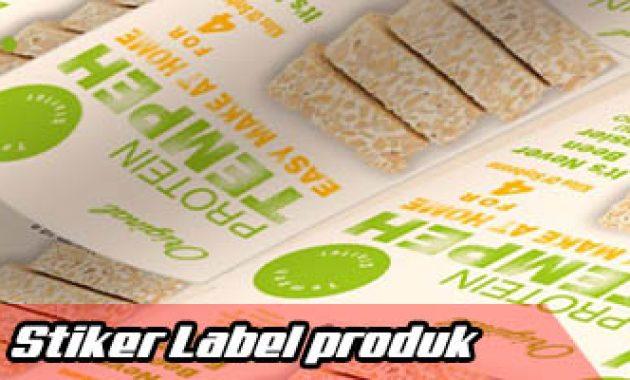 Stiker label kue